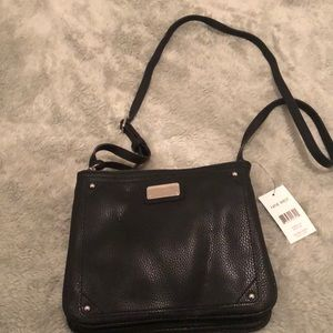 Black Leather Sling Purse